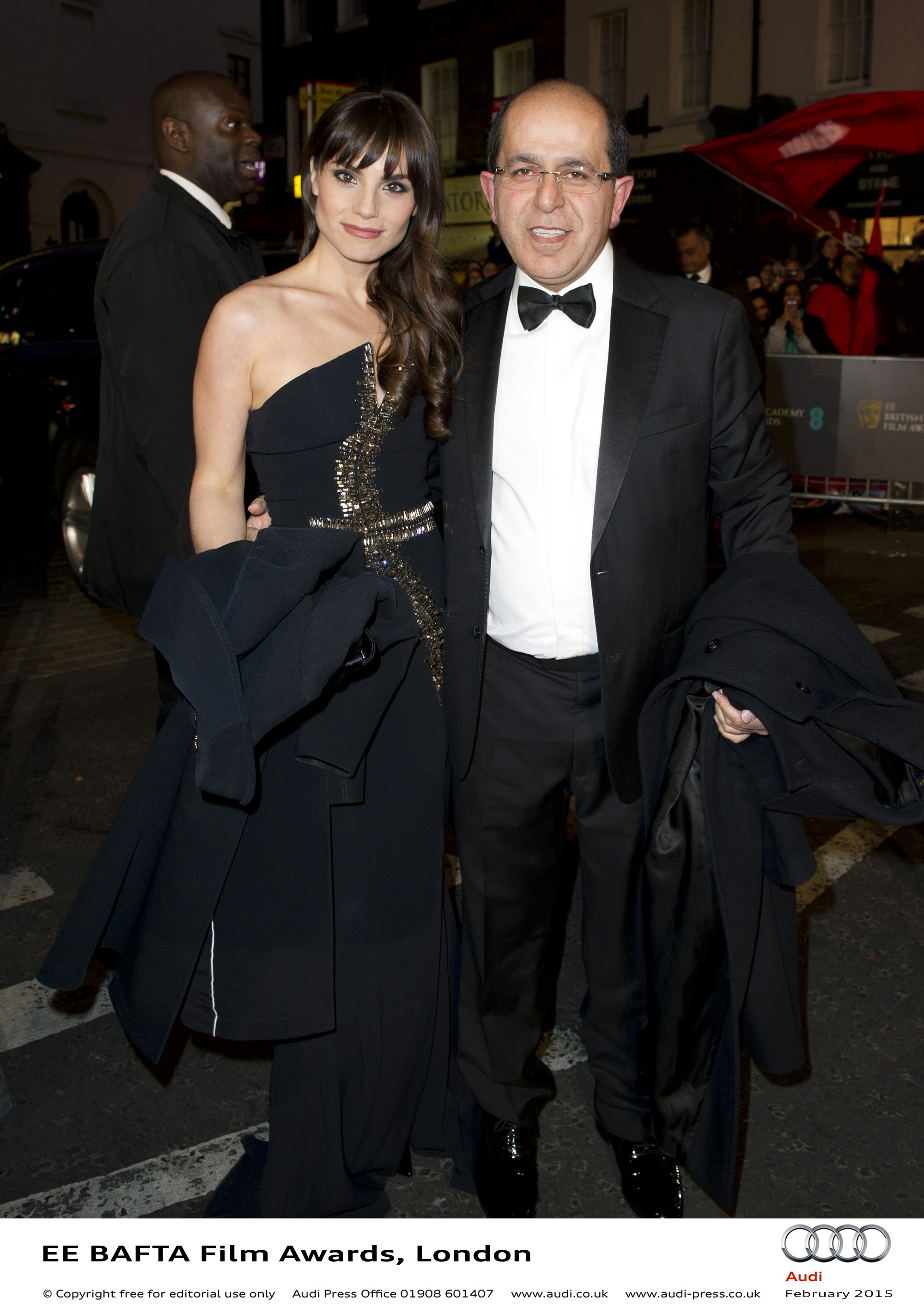 Charlotte Riley and Guest - EE BAFTA Film Awards