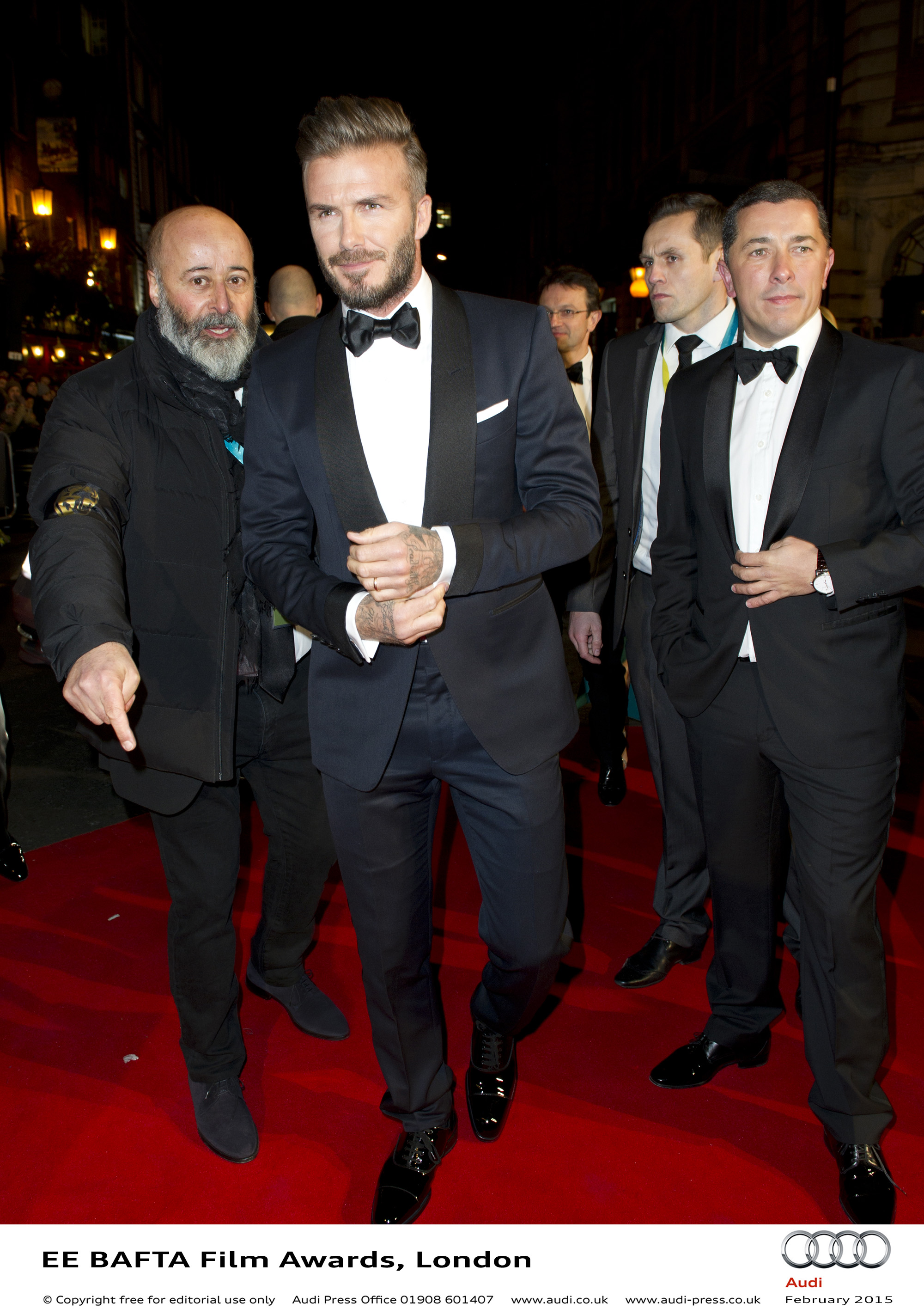 David Beckham - EE BAFTA Film Awards