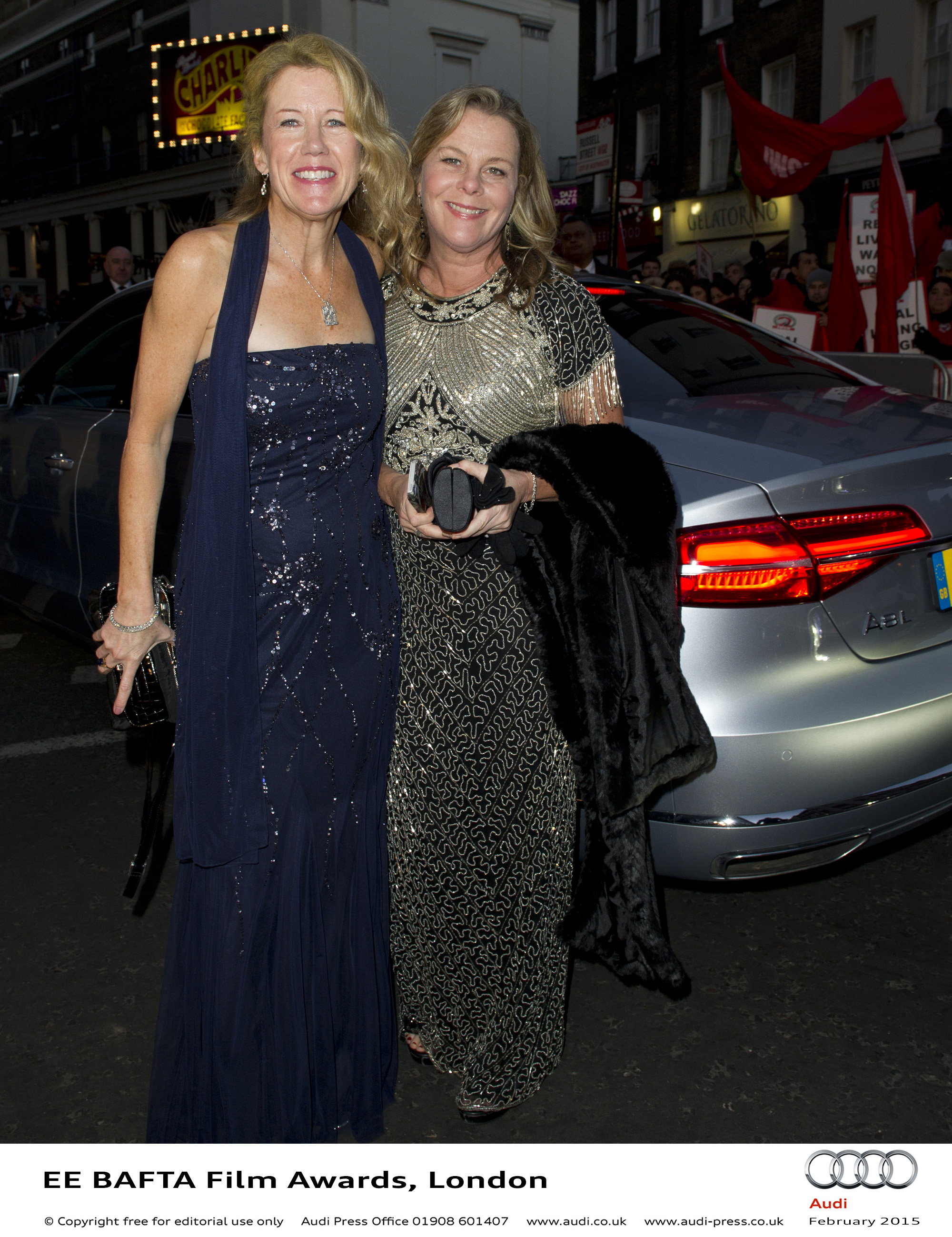 Lisa Brucs and Guest - EE BAFTA Film Awards