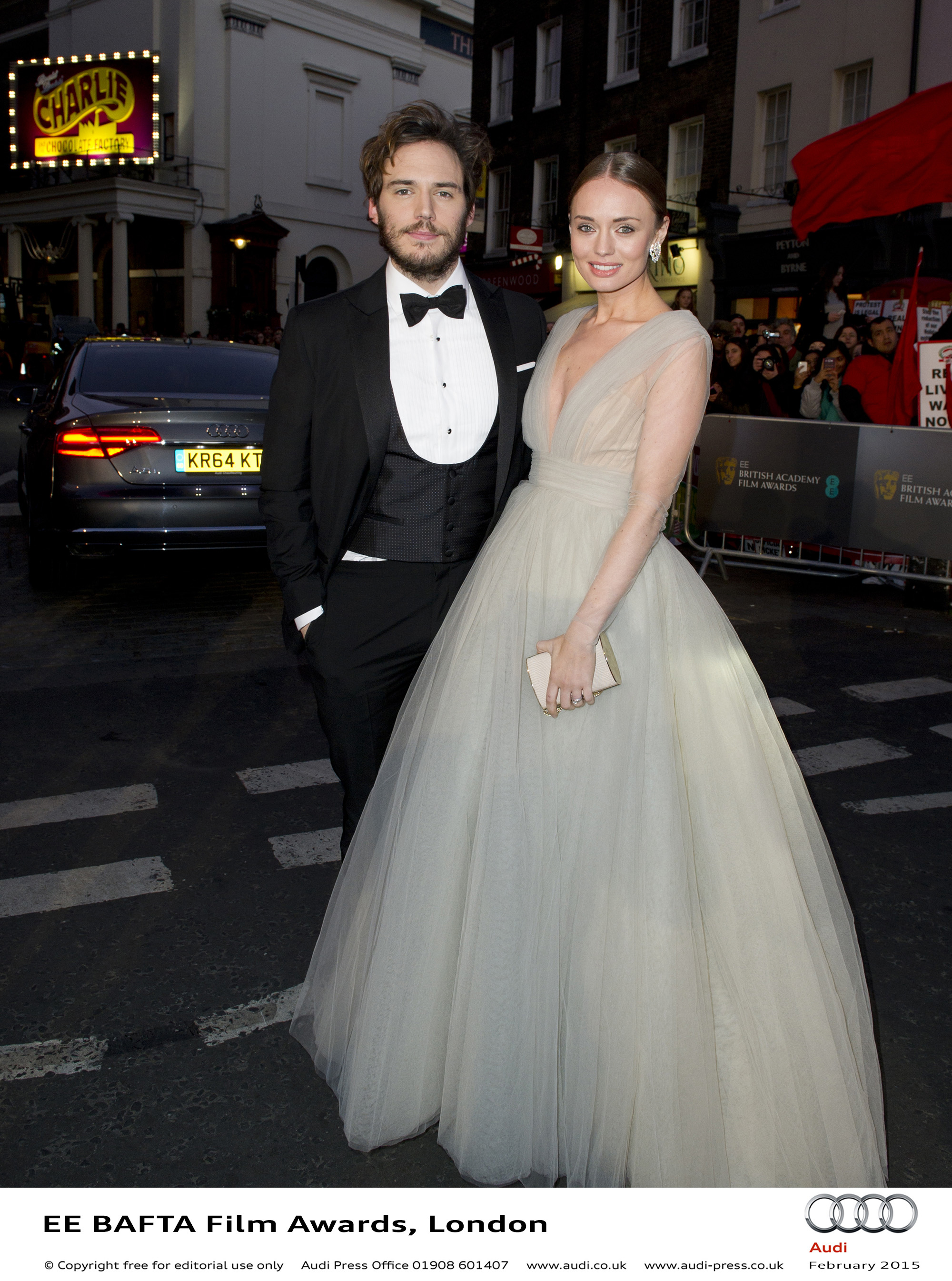Sam Claflin and Laura Haddock - EE BAFTA Film Awards
