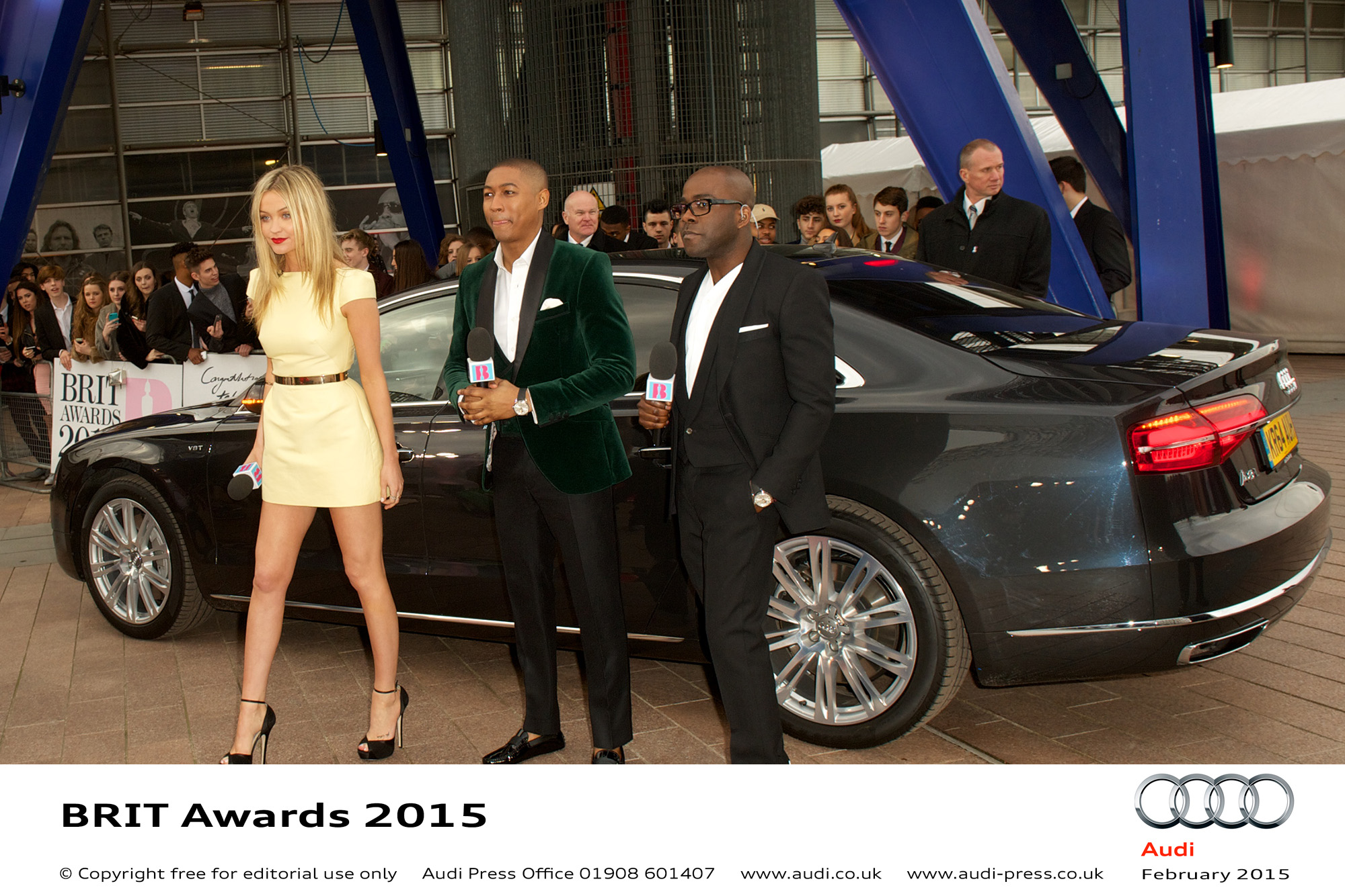 Laura Whitmore, Rickie Haywood-Williams and Melvin Odoom - BRIT Awards